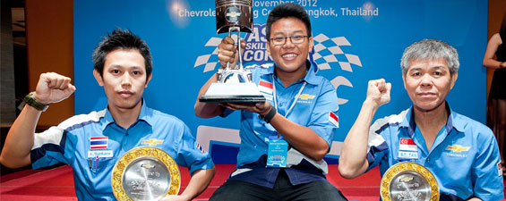 Chevrolet Thailand Hosts First ASEAN Skill Olympics Contest 2012 Technician Skill Competition