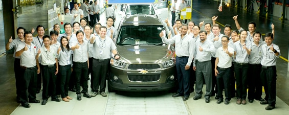 Chevrolet Launches Production of New 2014 Captiva in Rayong, Thailand