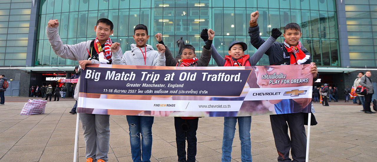 Chevrolet Hosts Thai Play for Dream Kids at Manchester United Game in UK